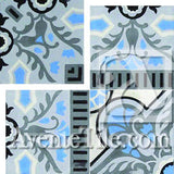 Cuban Heritage Design 110 2B Inside corner Encaustic Cement Tile