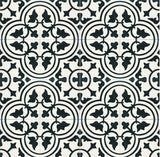 Mission Roseton Encaustic Cement Tile Rug