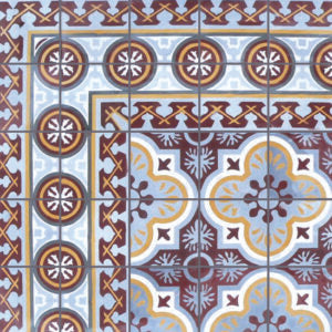 "Cuban Heritage Design 120 1A 8""x8"" Encaustic Cement Tile"