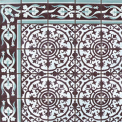 "Cuban Heritage Design 140 2B 8""x8"" Encaustic Cement Tile"