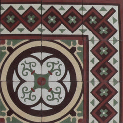 "Cuban Heritage Design 250 1B 8""x8"" Encaustic Cement Tile"