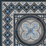 "Cuban Heritage Design 250 3B 8""x8"" Encaustic Cement Tile"
