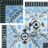 Cuban Heritage Design 110 2B Outside corner Encaustic Cement Tile