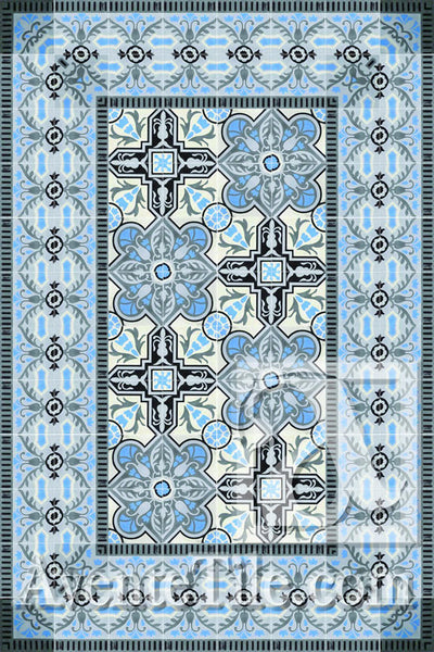 Cuban Heritage Design 110 2B Encaustic Cement Tile Rug