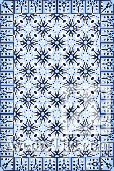 Cuban Heritage Design 130 2A Encaustic Cement Tile Rug