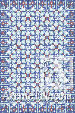 Cuban Heritage Design 130 3B Encaustic Cement Tile Rug