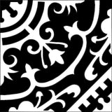"Cuban Heritage Design 140 8""x8"" Encaustic Cement Tile in Black & White"
