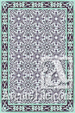 Cuban Heritage Design 140 2B Encaustic Cement Tile Rug