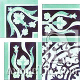 Cuban Heritage Design 140 2B Corner Encaustic Cement Tile