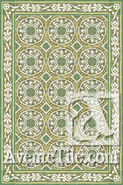 Cuban Heritage Design 140 3B Encaustic Cement Tile Rug