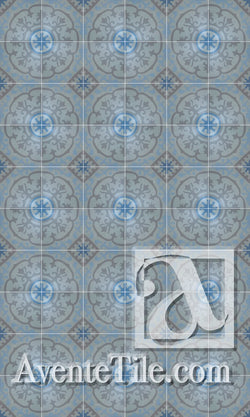 Cuban Heritage Design 140 4B Encaustic Cement Tile Rug