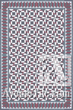 Cuban Heritage Design 210 1A Encaustic Cement Tile Rug