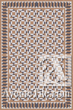 Cuban Heritage Design 210 3A Encaustic Cement Tile Rug