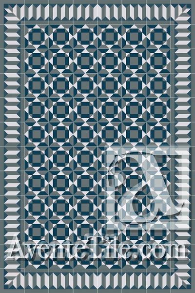 Cuban Heritage Design 210 4B Encaustic Cement Tile Rug