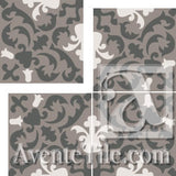 "Cuban Heritage Design 220 2A Cross 8""x8"" Encaustic Cement Tile"