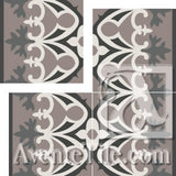 "Cuban Heritage Design 220 2A Border 8"" x 8"" Cement Tile"