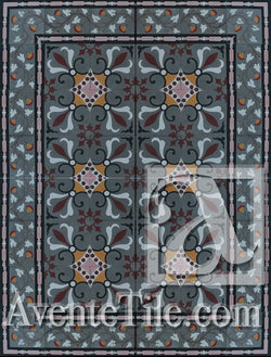 Cuban Heritage Design 230 1A Encaustic Cement Tile Rug