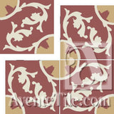 "Cuban Heritage Design 240 1A Field 8"" x 8"" Cement Tile"