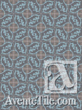 Cuban Heritage Design 240 2B Encaustic Cement Tile Rug