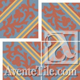 Cuban Heritage Design CH260-3B Field A - Encaustic Cement Tile