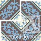 Cuban Heritage Design CH260-4B Field A - Encaustic Cement Tile