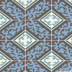 "Cuban Heritage Design 260 4B 8""x8"" Encaustic Cement Tile"