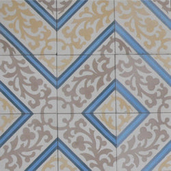 "Cuban Heritage Design 260 2B 8""x8"" Encaustic Cement Tile"