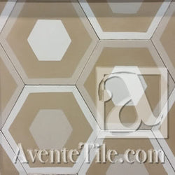 "Mission Hexagonal Honeycomb Encaustic Cement Tile 8""x8"""