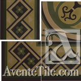"Cuban Heritage Design 250 2B Border 8"" x 8"" Cement Tile"