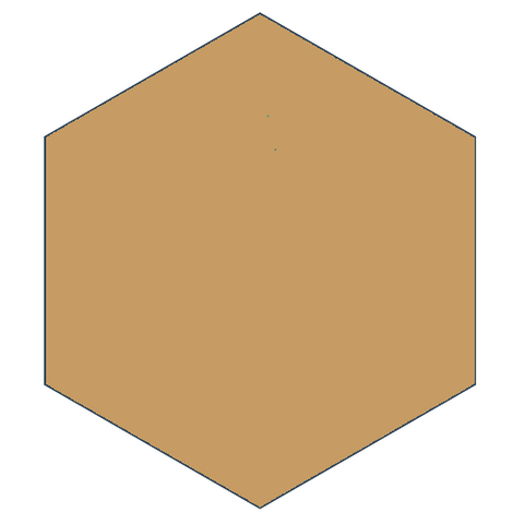 "Classic Caramel 8"" x 9"" Hexagon Encaustic Cement Tile"