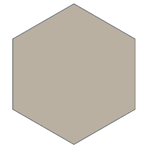 "Classic Gray 8"" x 9"" Hexagon Encaustic Cement Tile"