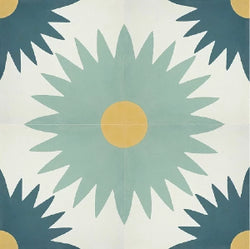 Classic Suzani A Quarter Design Cement Tile