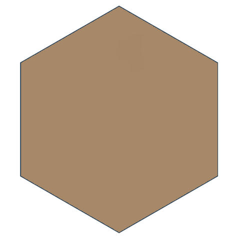 "Classic Tan 8"" x 9"" Hexagon Encaustic Cement Tile"