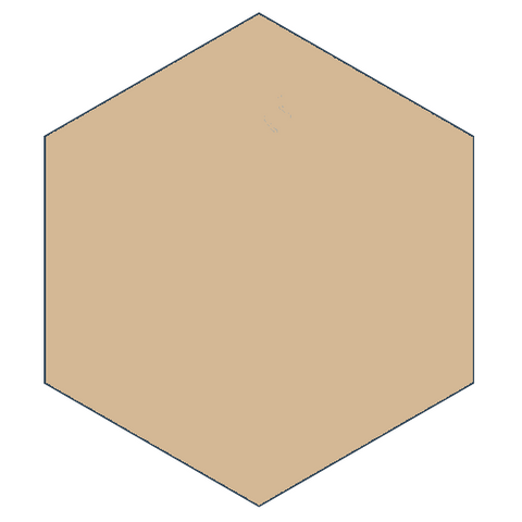 "Classic Taupe 8"" x 9"" Hexagon Encaustic Cement Tile"