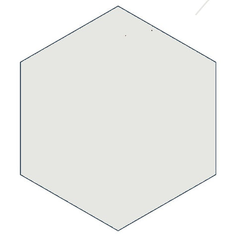 "Classic White 8"" x 9"" Hexagon Encaustic Cement Tile"