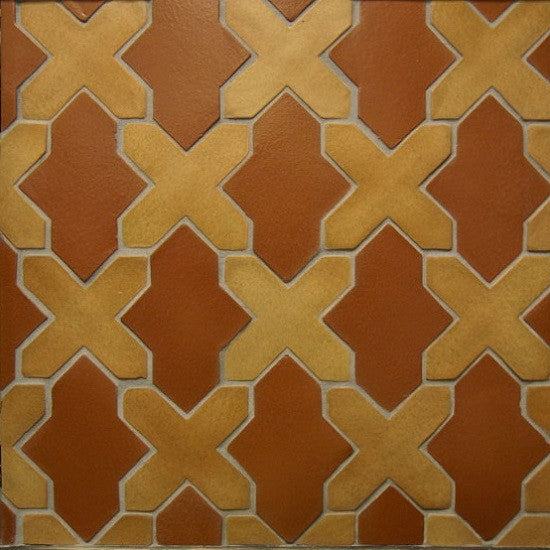 Clay Arabesque Alcazar in Spanish Brown and Yellowstone