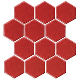 "Clay Arabesque 4"" Hexagon Glazed Ceramic Tile - Apple"