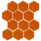 "Clay Arabesque 4"" Hexagon Glazed Ceramic Tile - Nutmeg"
