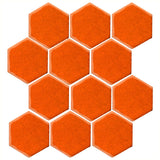 "Clay Arabesque 4"" Hexagon Glazed Ceramic Tile - Pumpkin"