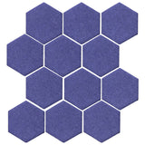"Clay Arabesque 4"" Hexagon Glazed Ceramic Tile - Spanish Lavendor"