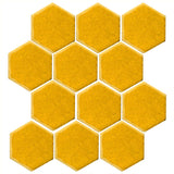 "Clay Arabesque 4"" Hexagon Glazed Ceramic Tile - Sunny Side Up"