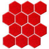 "Clay Arabesque 4"" Hexagon Glazed Ceramic Tile - Sunset orange"