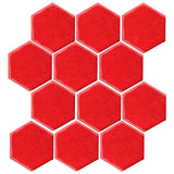"Clay Arabesque 4"" Hexagon Glazed Ceramic Tile - Tomato"
