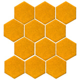 Clay Arabesque 4 Hexagon Glazed Ceramic Tile - Valencia Orange matte