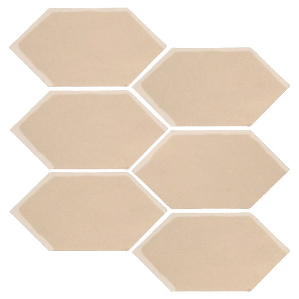 "Clay Arabesque 4"" x 8"" Picket - Almond"