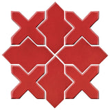 Clay Arabesque Alcazar Glazed Ceramic Tile - Apple