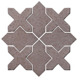 Clay Arabesque Alcazar Glazed Ceramic Tile - Ash