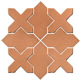 Clay Arabesque Alcazar Glazed Ceramic Tile - Beechnut