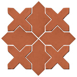 Clay Arabesque Alcazar Glazed Ceramic Tile - Chocolate Matte