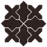 Clay Arabesque Alcazar Glazed Ceramic Tile - Classic Black